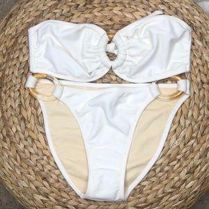 NWT Aurea white bikini